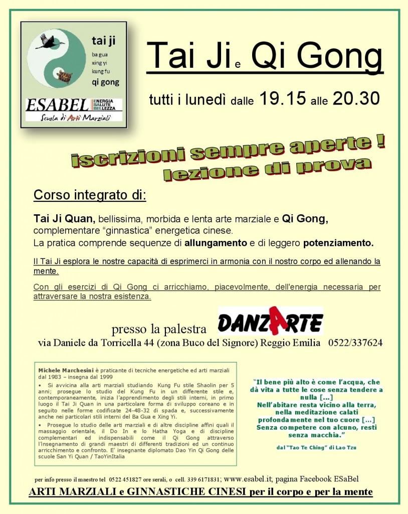Riprende il corso a Reggio Emilia ... lunedì 8 gennaio. Sempre possibile iscriversi